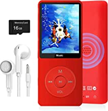 $21 » MP3 Player, Dyzeryk Music Player with 16GB Micro SD Card, Ultra Slim Music Player with Build-in Speaker, Photo Viewer, Vid...