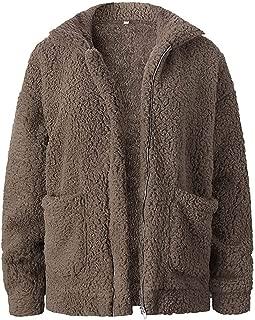 Surprise S Coat Women Fluffy Jacket Autumn Zipper Plush Thick Casual Plus Size Lamb Winter
