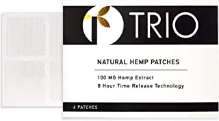 Hemp Oil Topical Pain Patch - Zero THC - Ideal for Pain Relief, Muscle Pain, Stress, Anxiety, Better Sleep - 6 Patches x 1...