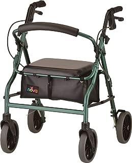 "NOVA Zoom Rollator Walker with 20"" Seat Height, Green"