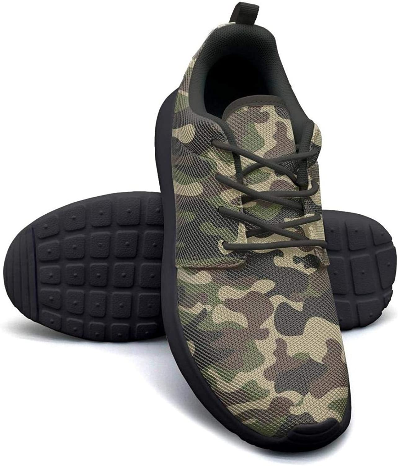 Hobart dfgrwe Camouflage Olive colors Forest camo Women Canvas Casual shoes Comfortable Fitness shoes