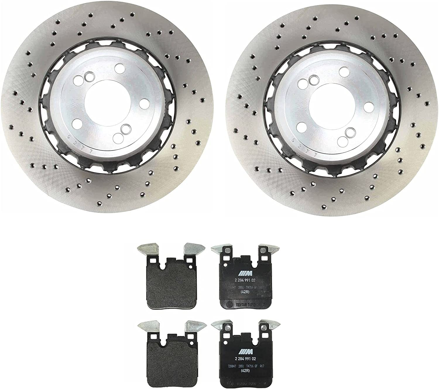 Rear Tucson Mall Max 59% OFF Brake kit Drilled Vented Rotors with Compatible Pads Disc