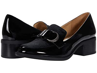 Naturalizer Pascal (Black Patent Leather/Brahma Hair) Women