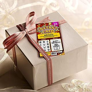 Happy Birthday 仿制彩票图案 - 孩子/成年人生日游戏,10.16x15.24 cm 生日快乐卡片活动,可作为生日礼物附加