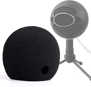 ChromLives Blue Snowball Pop Filter Foam Cover -Blue Snowball Cover Microphone Windscreen Compatible with Blue Snowball Ice Microphone (Black)