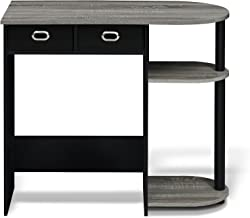 FURINNO Go Green Home Laptop Notebook Computer Desk/Table, With 2 Bin Drawers, French Oak..