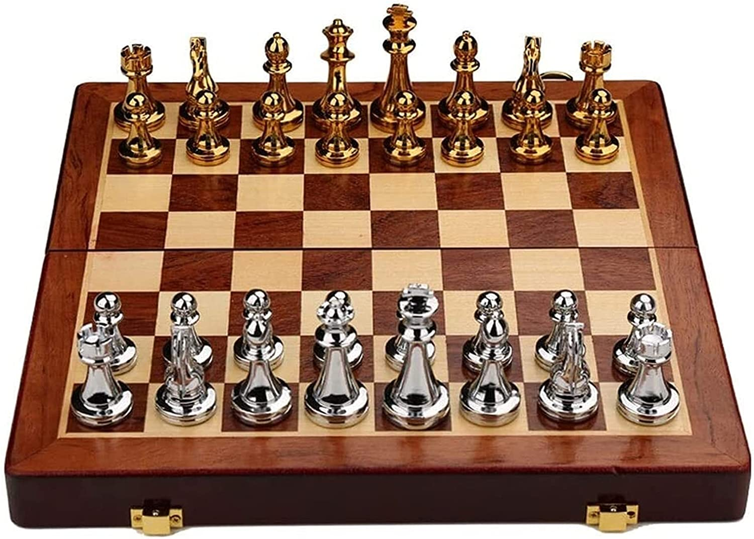 MTCWD Max 73% OFF Chess Wooden Set Folding with Manufacturer direct delivery Board Ches