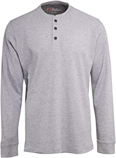 American Outdoorsman Long Sleeve Thermal Shirt, Warm Waffle Henley Pullover, Men's Clothes/Apparel