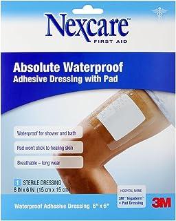 "Nexcare Waterproof Adhesive Dressing W/ Pad 6' X 6"", 1 ct Packages"