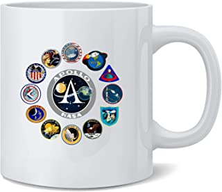 Poster Foundry NASA Approved Apollo Mission Patches Retro Vintage Coffee Mug Tea Cup 12 oz