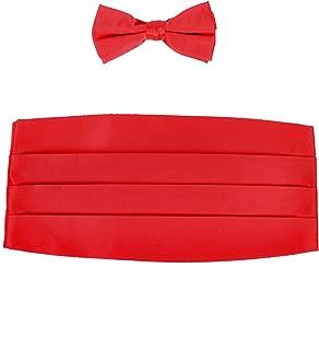 Boy's Solid Poly Satin - Bow Tie and Cummerbund Sets