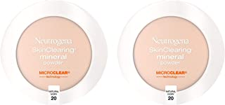Neutrogena SkinClearing Mineral Acne-Concealing Pressed Powder Compact, Shine-Free & Oil-Absorbing Makeup with Salicylic A...