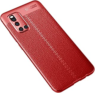 JINJIN for For VIVO V19 Litchi Texture TPU Shockproof Case(Black) Cover (Color : Red)