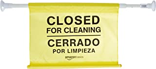 AmazonBasics Site Safety Hanging Sign, Closed For Cleaning, Bilingual, 6-Pack