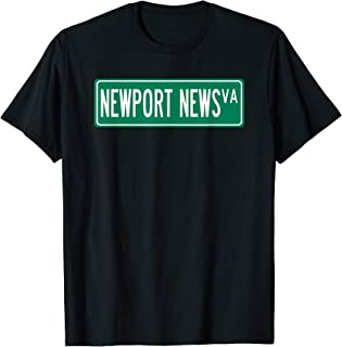 Retro Style Newport News VA Street Sign T-Shirt