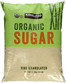 Kirkland Signature Organic Sugar - 10 Lb (Pack of 3)