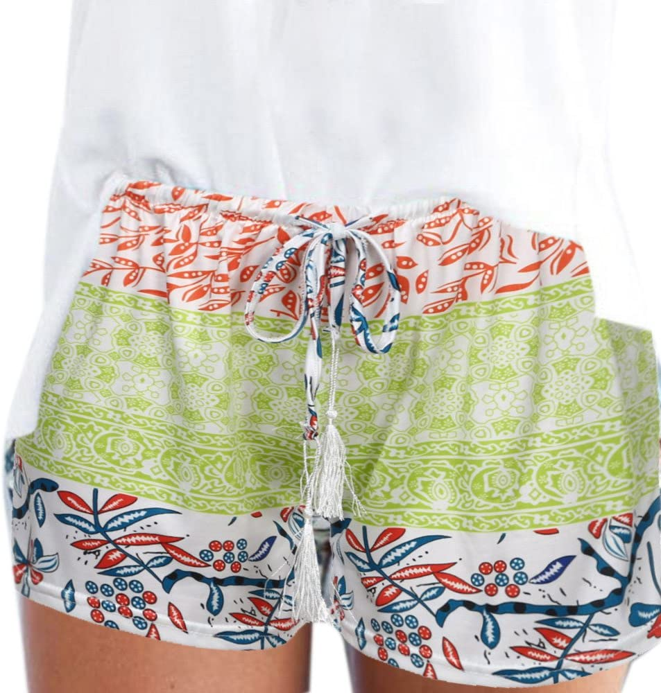 Womens Pants Casual Plus Size Shorts Bandage Foral Printed Surprise price Ranking TOP3