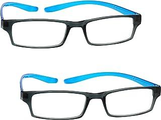 Uv Reader Nero Blu Brillante Collo Occhiali Da Lettura Valore 2 Pacco Donna Uomo Uvr2Pk020 +2,50 - 70 Gr