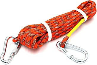 HandAcc Outdoor Climbing Rope 10M(32ft) 20M(64ft) 30M (96ft) 50M(160ft) 60M(197ft) 70M(230ft) Static Rock Climbing Rope, Diameter 10mm, Escape Rope Climbing Equipment Fire Rescue Parachute Rope