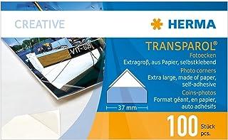 HERMA 1302Transparol Foto Esquinas, extra grande, tiras de 2, 100St, 5paquetes