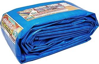 SHREE TARPAULINS 100% Pure Virgin UV Treated 125 GSM Blue Water Proof Plastic Sheet (80 FT X 30 FT)