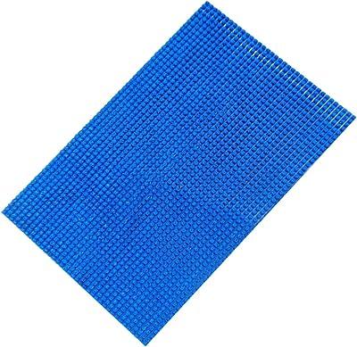 """Kuber Industries Turf Design PVC Door Mat - 24""""x16"""" (Blue)"""