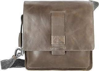 Strellson Lambeth Leder Messenger Bag MVF Cross Bag Umhängetasche grey grau