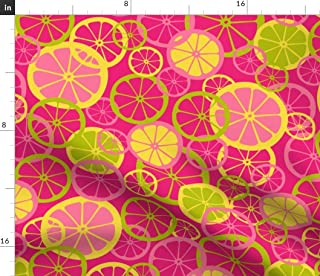 14 Yard Limes and Yellow Stripes Fruit Citrus Retro Print Novelty Cotton Spring Summer Fabric by the QTR