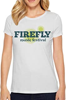 ZLJUN Womens Happy Firefly Music Festival Cute Top Shirt