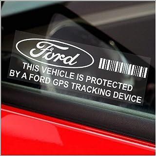 5 x Platinum Place ppfordgps GPS Tracking Sicherheits Fenster Aufkleber,87x30mm,für Fiesta,Mondeo,Escort,Focus,Mustang,Fusion,Ka,Auto,Van,Alarm Hinweis