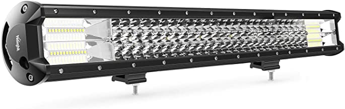 Nilight 18005C-A 1PC 26Inch Triple Row Lights 297W 29700LM Flood Spot Combo Beam Bar Driving Boat Super Bright Led Off Road Trucks,2 Years Warranty