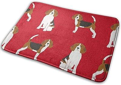 """Beagle Pet Quilt A Dog Breed Coordinate_17315 Doormat Entrance Mat Floor Mat Rug Indoor/Outdoor/Front Door/Bathroom Mats Rubber Non Slip 23.6"""" X 15.8"""""""