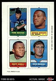 1969 Topps 4-in-1 Football Stamps Tom Sestak/Ernie Wright/Matt Snell/Doug Moreau (Football Card) Dean's Cards 8 - NM/MT