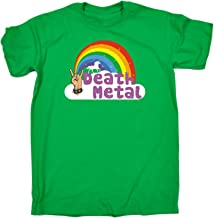 123t Men's Death Metal Unicorn Rainbow Design Funny T-Shirt