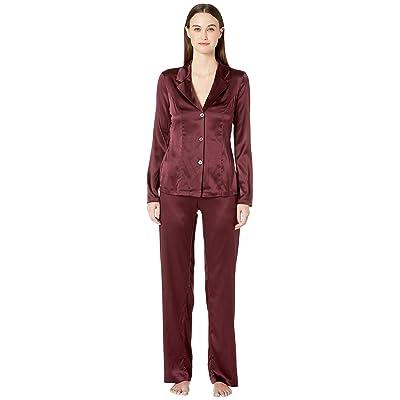 La Perla Silk Reward Long Pajamas (Bordeaux) Women