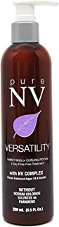 Pure NV Versatility Smoothing and Curling Potion 1-Day Frizz Free Treatment - Contains NV Complex with Keratin and Argan Oil to Protect, Add Shine, and Control Texture (8.5 Oz Bottle)