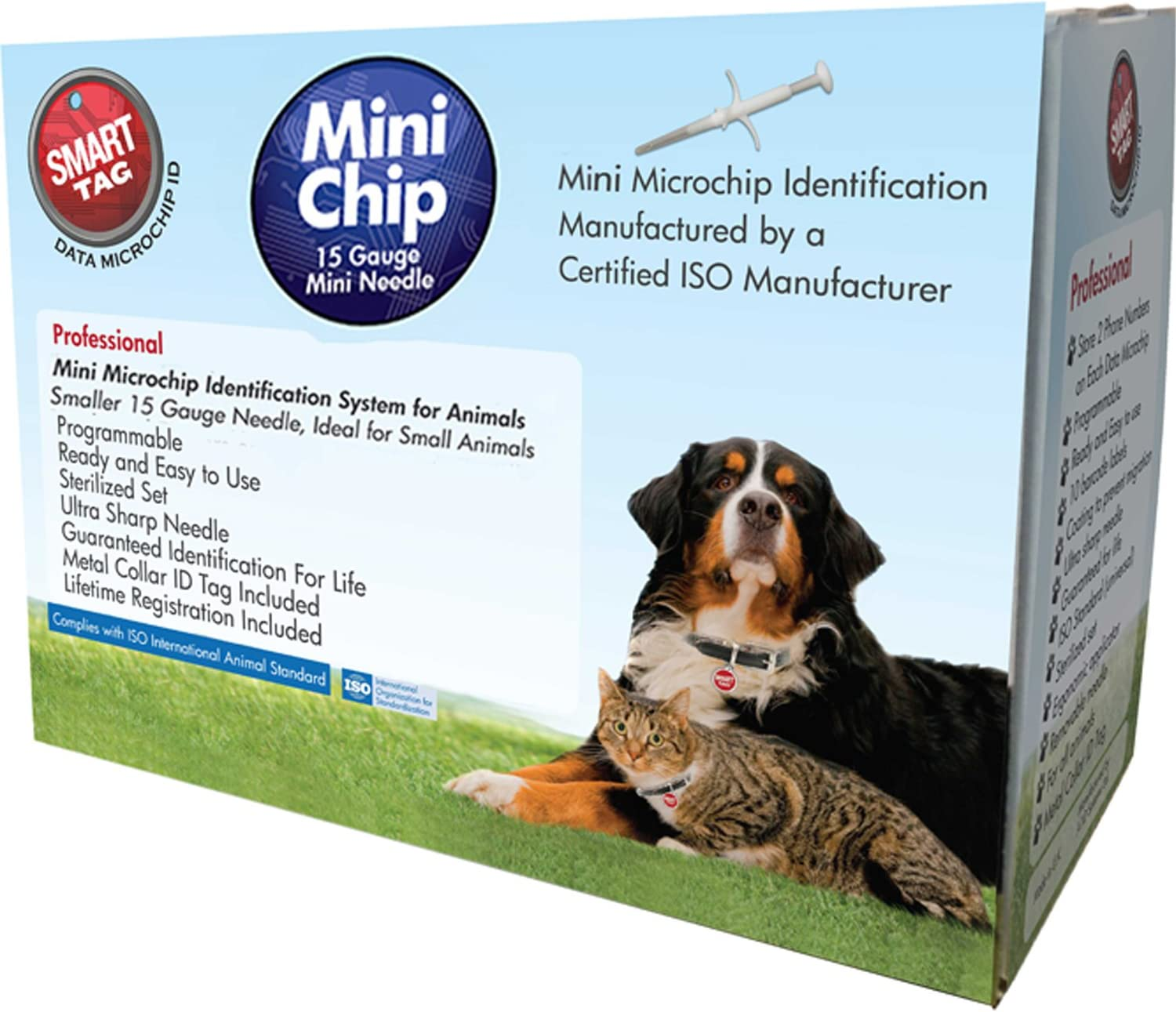 Outlet ☆ Free Shipping SmartTag ISO Microchip Minneapolis Mall Box with for Pets Min Tag Identification