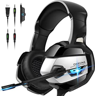 ONIKUMA Gaming Headset - Auriculares Xbox One PS4 con cancel