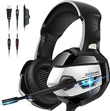 ONIKUMA Gaming Headset – Xbox 360 Headset [2019 K5 Pro] with Noise Canceling Mic..