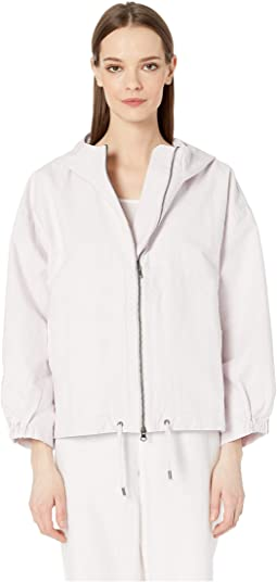 Sueded Organic Cotton Hemp Canvas Hooded Jacket. Like 1. Eileen Fisher 30d9f00df