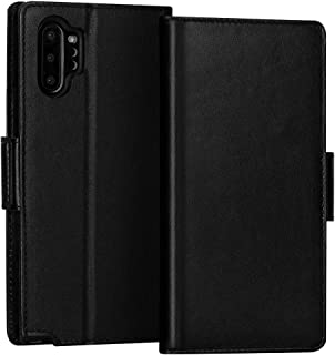 FYY Samsung Galaxy Note 10 Plus Case/Galaxy Note 10 Plus 5G Case Luxury Cowhide Genuine Leather [RFID Blocking] Wallet Cas...