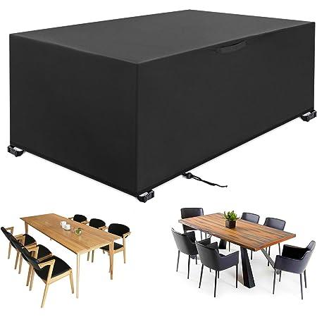 YISSVIC Housse Salon de Jardin 242 x 162 x 100cm 420D Oxford Housse de Protection Bâche de Table Imperméable Résistant à la Vent Pluie UV Déchirure