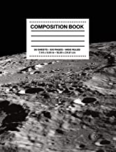 Composition Book Wide Ruled: NASA Apollo Mission Moon Surface Craters Space Astronomy Notebook Journal Logbook