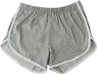 FITYLE Women Teen Girls Yoga Running Workout Shorts Athletic Elastic Waist