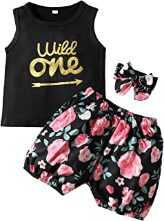 Toddler Baby Girl Clothes Tank Tops Floral Shorts Summer Outfit Set for Newborn Girls