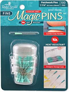 Taylor Seville Original Comfort Grip Magic Pins Patchwork Fine-Quilting Supplies-Sewing Supplies-Sewing Notions-100 Count