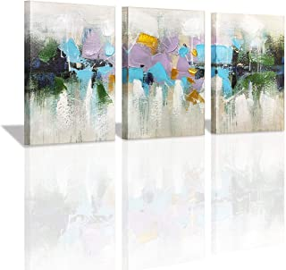 Yatehui Modern Abstract Canvas Wall Art 3 Pieces Giclee Prints Wall Decor Paintings Ready to Hang 12x16 Inch