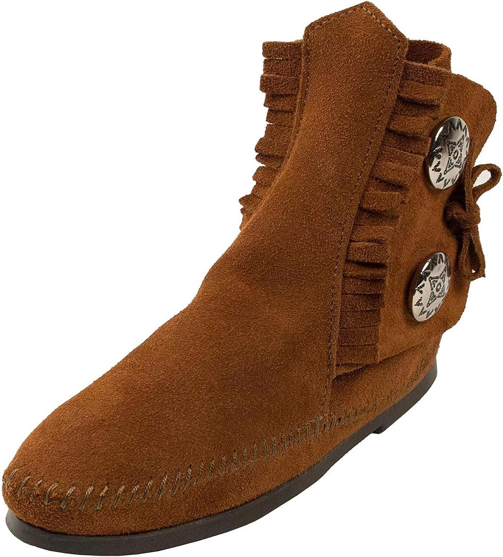 Minnetonka Women's 2 Button Hardsole Boot