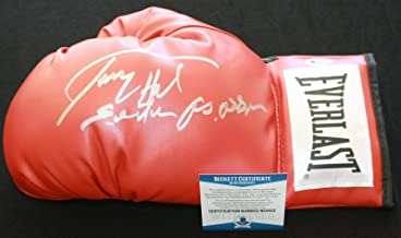 Larry Holmes signed & inscribed laced boxing glove, IBF, WBC, Beckett BAS N25652 - Autographed Boxing Gloves
