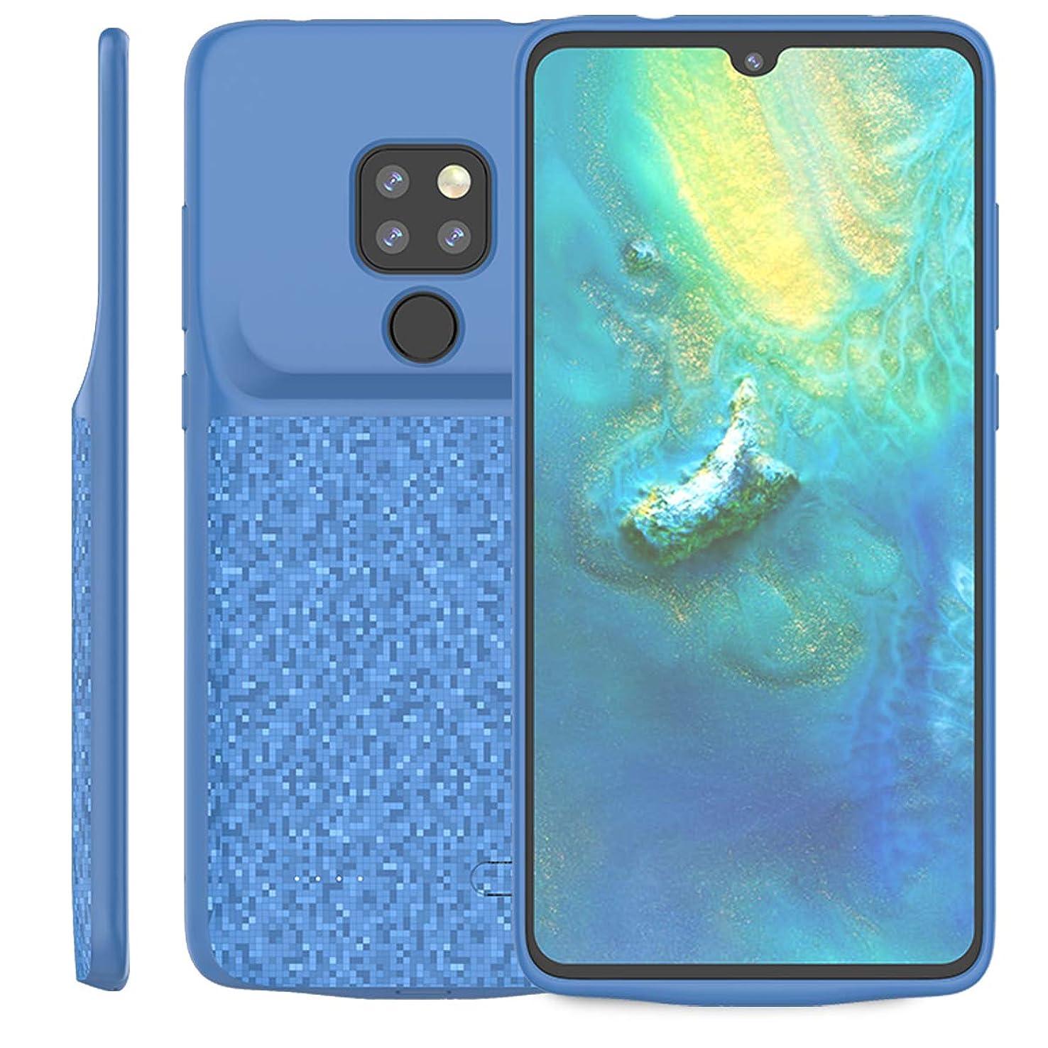 ピッチ消えるお祝いHuawei Mate 20 4700mAh 電池ケース Phoebe スリム 充電式 充電ケース ポータブル 外部 充電式 電源 ケース 互換性のある Huawei Mate 20 4700mAh 拡張された 電池 Pack-Blue